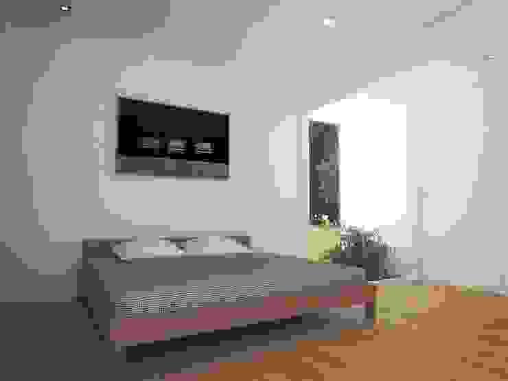 Casa - Taller Cuartos de estilo minimalista de RRA Arquitectura Minimalista Madera Acabado en madera