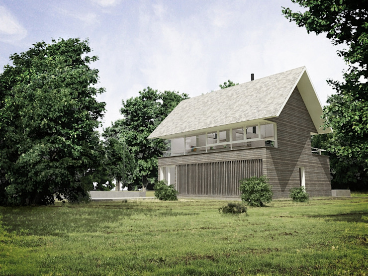 Casa - Taller RRA Arquitectura Casas de estilo minimalista Madera Marrón