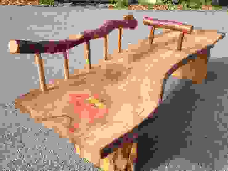 一枚板のベンチ: 木工房&ぎゃらりー ふじやんが手掛けた折衷的なです。,オリジナル