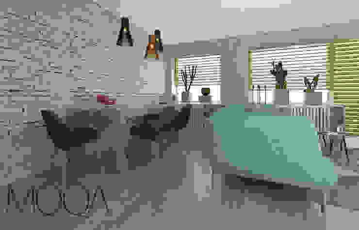 Salon – mieszkanie w bloku od MOQA Monika Lepczyńska