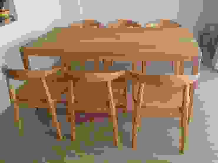 楢 ダイニングセット: Loop order furnitureが手掛けた現代のです。,モダン 木 木目調