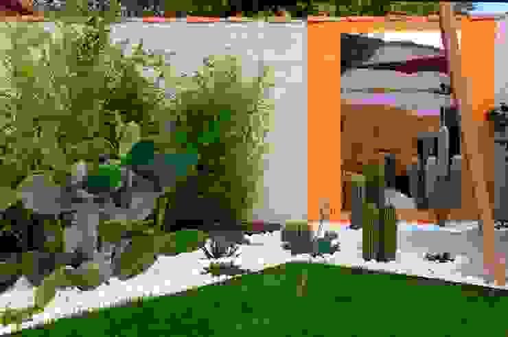 Jardines de estilo moderno de CONCEPTUELLES PAYSAGE ET DECORATION Moderno