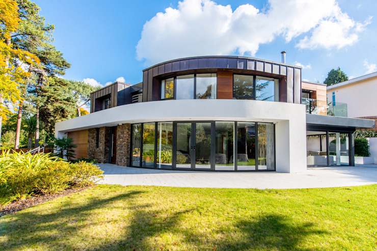 Canford Cliffs, Poole, Dorset Moderne huizen van David James Architects & Partners Ltd Modern