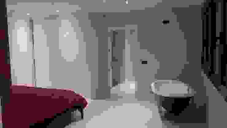 CASA AVENIDA DE LOS DEPORTISTAS Dormitorios de estilo moderno de AFG ARQUITECTOS Moderno