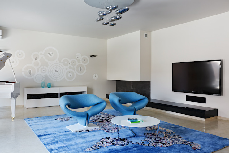 Salas de estilo minimalista de Анна и Станислав Макеевы Minimalista