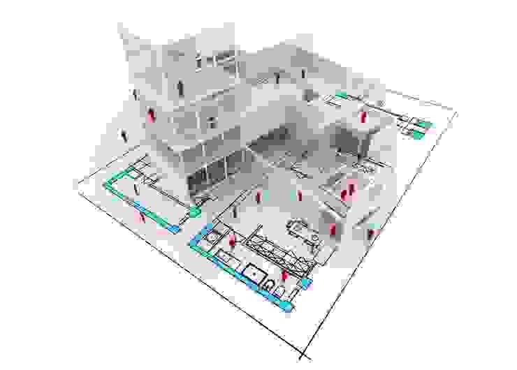 Casas modernas: Ideas, imágenes y decoración de NOUVELLE. | Proje Danışmanlık Moderno