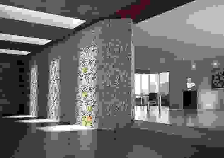 Graffiti Wall covering 现代客厅設計點子、靈感 & 圖片 根據 Kreoo 現代風 大理石
