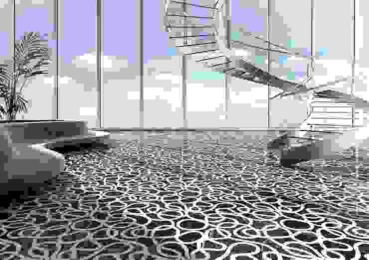 Picto floorcovering 现代客厅設計點子、靈感 & 圖片 根據 Kreoo 現代風 大理石