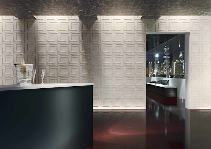 Weave Wallcovering by Kreoo 現代廚房設計點子、靈感&圖片 根據 Kreoo 現代風 大理石
