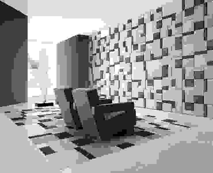 Motion Floor and Wall Covering by Kreoo 现代客厅設計點子、靈感 & 圖片 根據 Kreoo 現代風 大理石