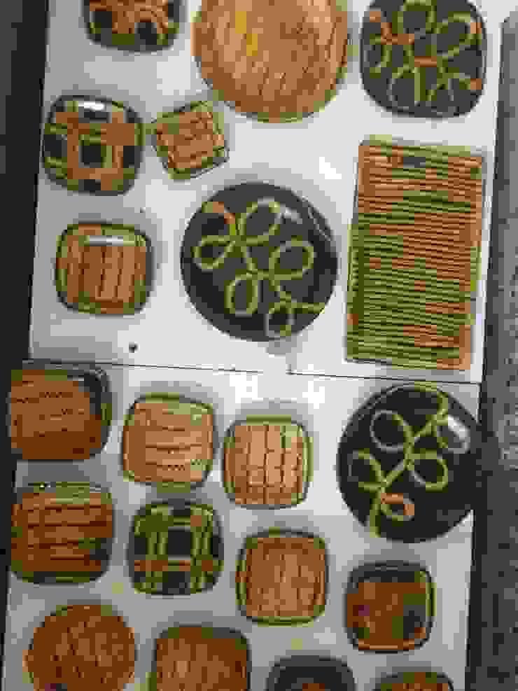 スリップウェア: Tenshin Jubaが手掛けたアジア人です。,和風 陶器