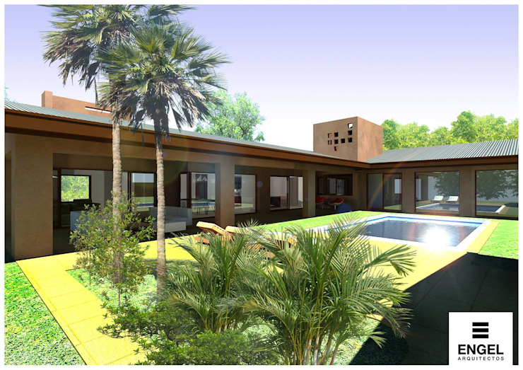 Modern style gardens by ENGEL arquitectos Modern