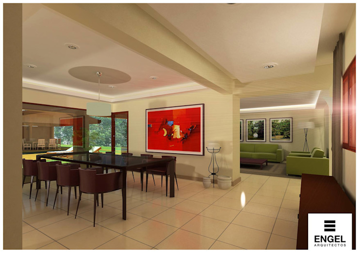 Modern dining room by ENGEL arquitectos Modern