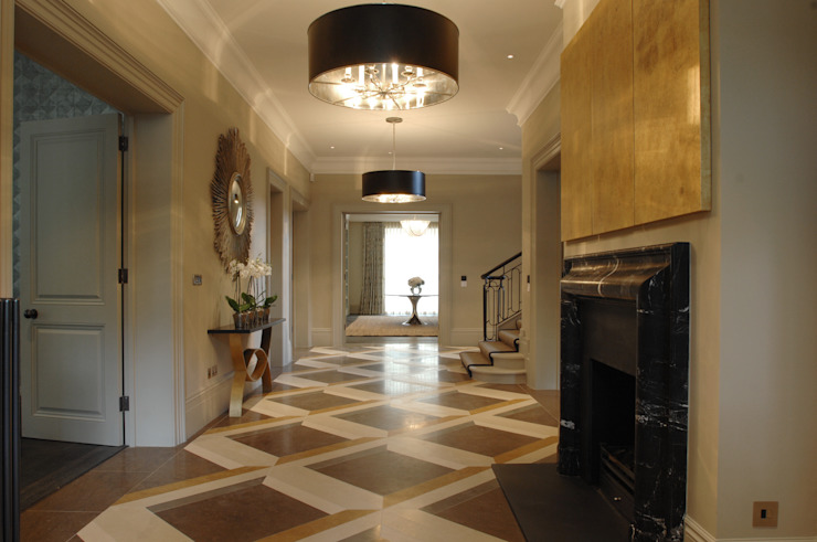 Limestone De Ferranti 现代客厅設計點子、靈感 & 圖片