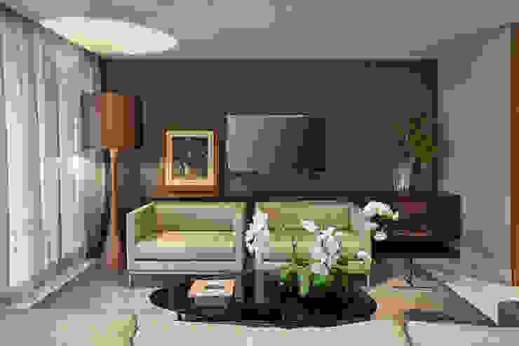 Apartamento Vila da Serra II Salas multimídia modernas por Juliana Goulart Arquitetura e Design de Interiores Moderno