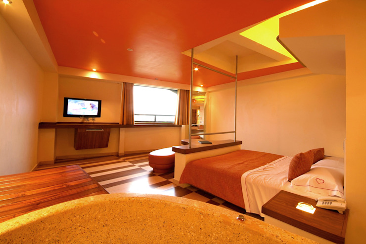 Hotel Cuore Dormitorios modernos de DIN Interiorismo Moderno
