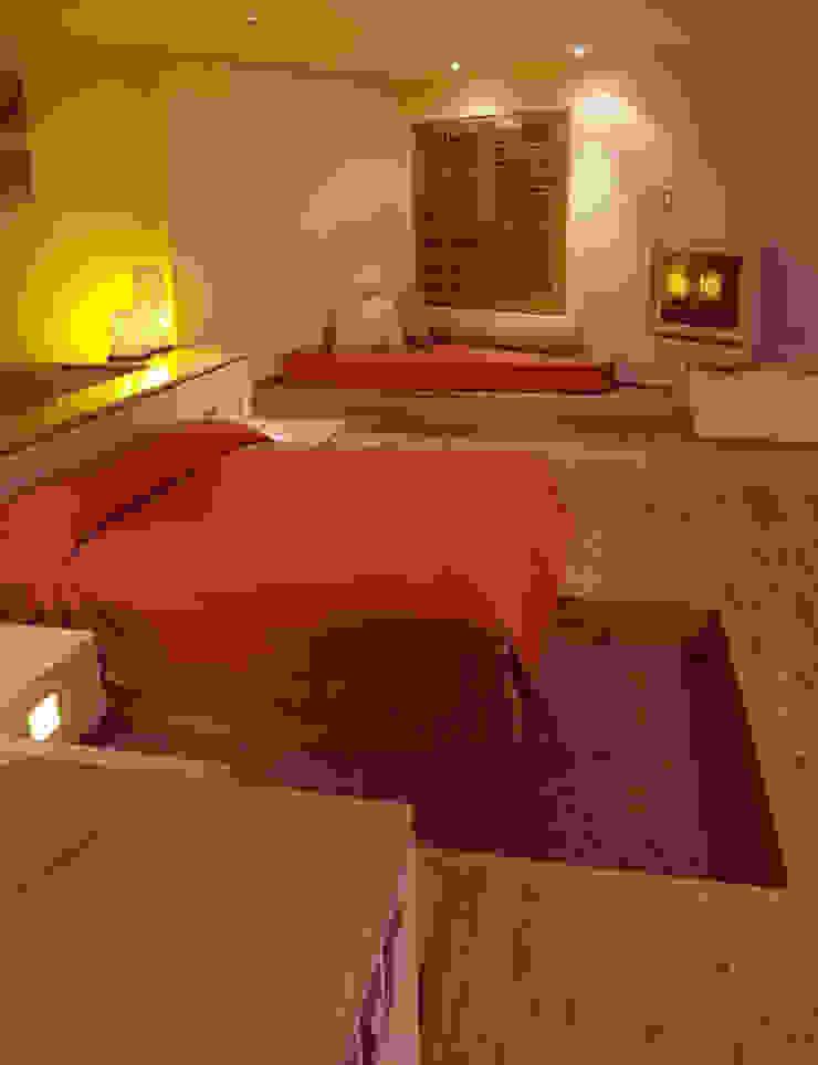 Hotel Pirámides Narvarte Dormitorios modernos de DIN Interiorismo Moderno