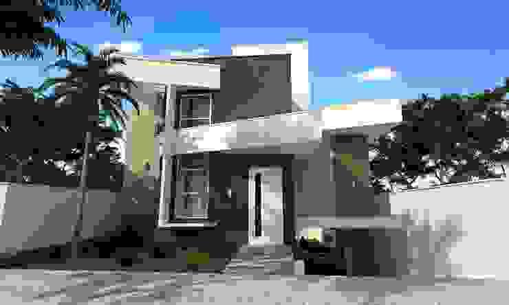 Residência Moderna Casas modernas por Valente Arquitetura & Construção Moderno Tijolo