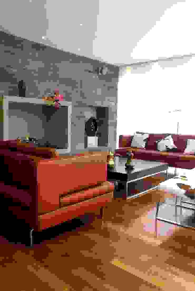 Casa A.P Salones modernos de DIN Interiorismo Moderno
