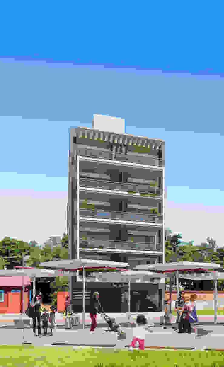 Edificio AQUALINE Casas modernas: Ideas, imágenes y decoración de ENGEL arquitectos Moderno