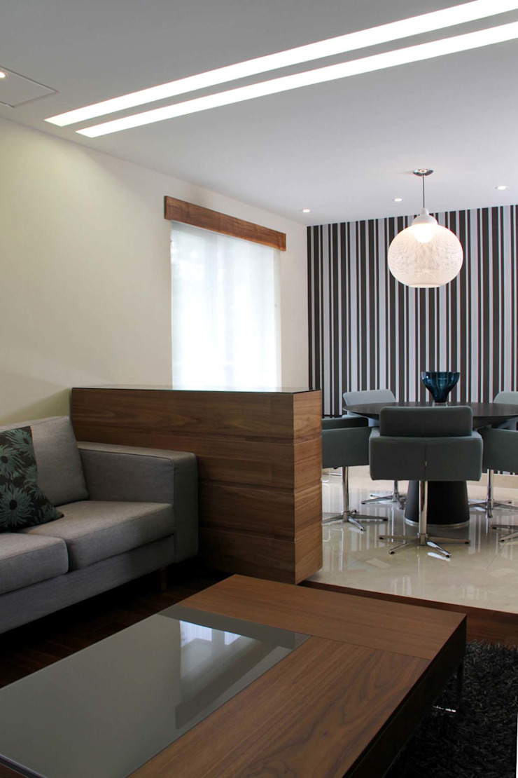 Departamento Jomap Salones modernos de DIN Interiorismo Moderno