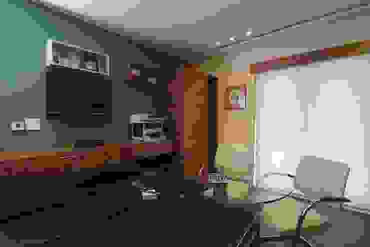 Departamento Jomap Estudios y despachos modernos de DIN Interiorismo Moderno