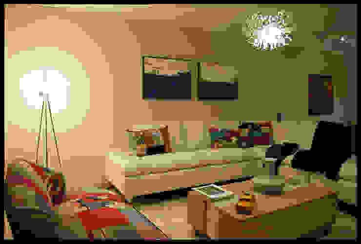 Living Miami Boulevard Salones de estilo ecléctico de Diseñadora Lucia Casanova Ecléctico
