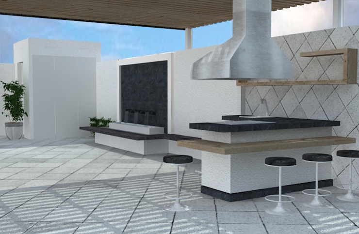 A-labastrum arquitectos Jardines de estilo minimalista