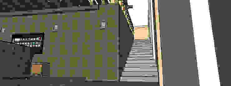 vista escaleras Balcones y terrazas rústicos de PRISMA ARQUITECTOS Rústico