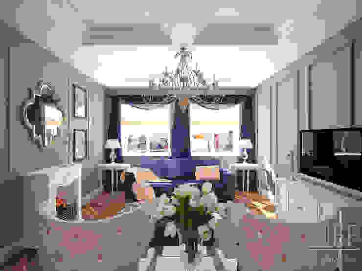 Квартира 126 кв.м. Современная классика. Transitional Гостиная в классическом стиле от Юлия Паршихина Классический