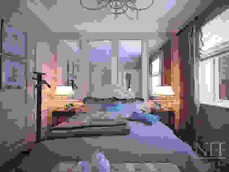 Квартира 126 кв.м. Современная классика. Transitional Спальня в классическом стиле от Юлия Паршихина Классический