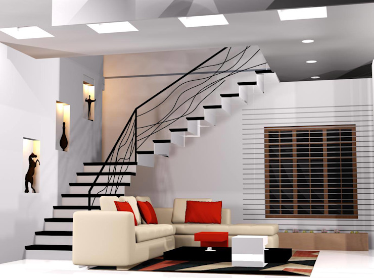 Modern Living Room by I Nova Infra Modern