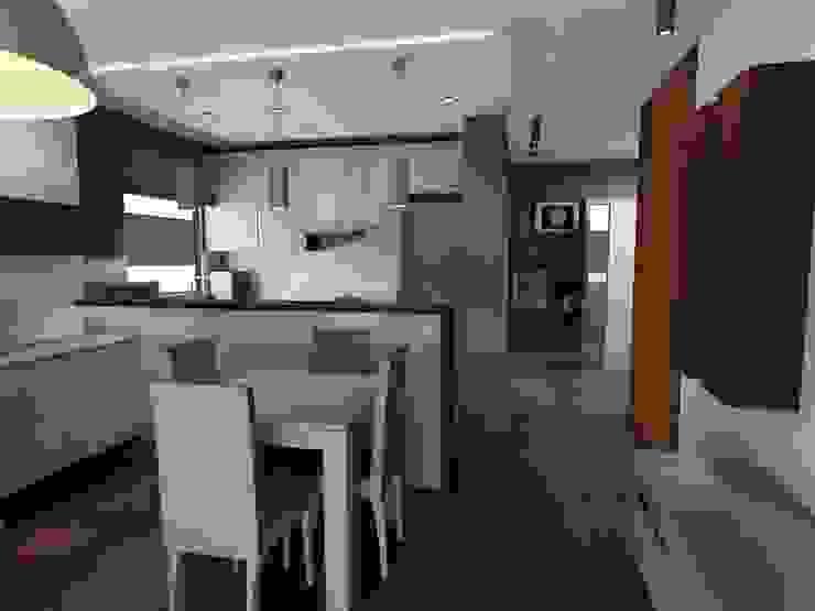 salon z kuchnią Nowoczesny salon od Plan Design Katarzyna Szczucka Projektowanie Wnętrz Nowoczesny