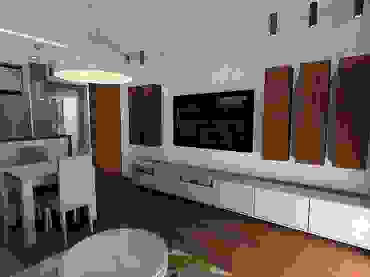 salon z kuchnią Minimalistyczny salon od Plan Design Katarzyna Szczucka Projektowanie Wnętrz Minimalistyczny