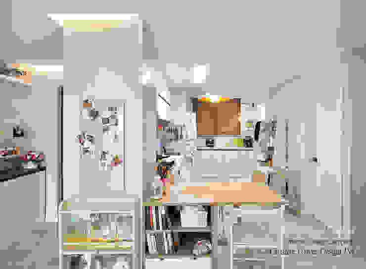 수원 정자동 한라비발디 27평: JMdesign 의  다이닝 룸,모던