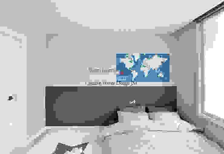 수원 정자동 한라비발디 27평: JMdesign 의  침실,모던