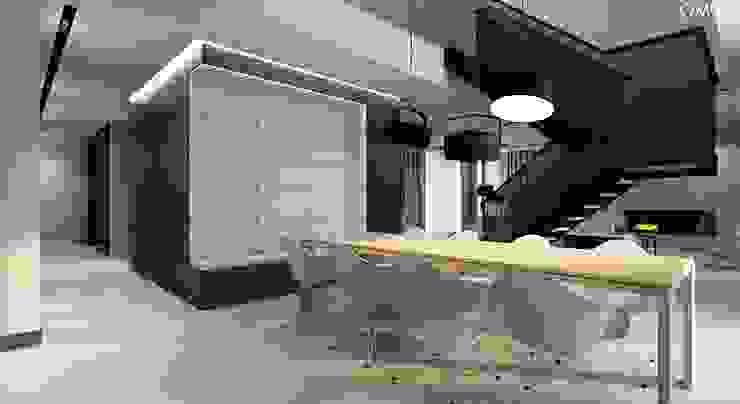N.M. House Minimalistyczna jadalnia od OMCD Architects Minimalistyczny