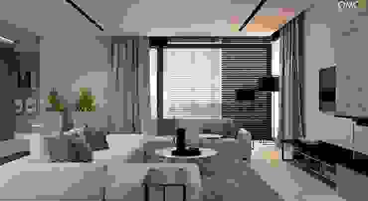 N.M. House Minimalistyczny salon od OMCD Architects Minimalistyczny