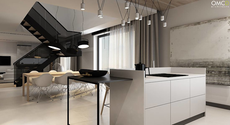 N.M. House Minimalistyczna kuchnia od OMCD Architects Minimalistyczny