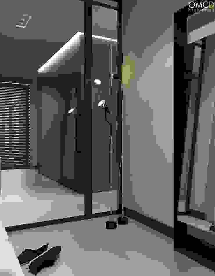 N.M. House Minimalistyczny korytarz, przedpokój i schody od OMCD Architects Minimalistyczny