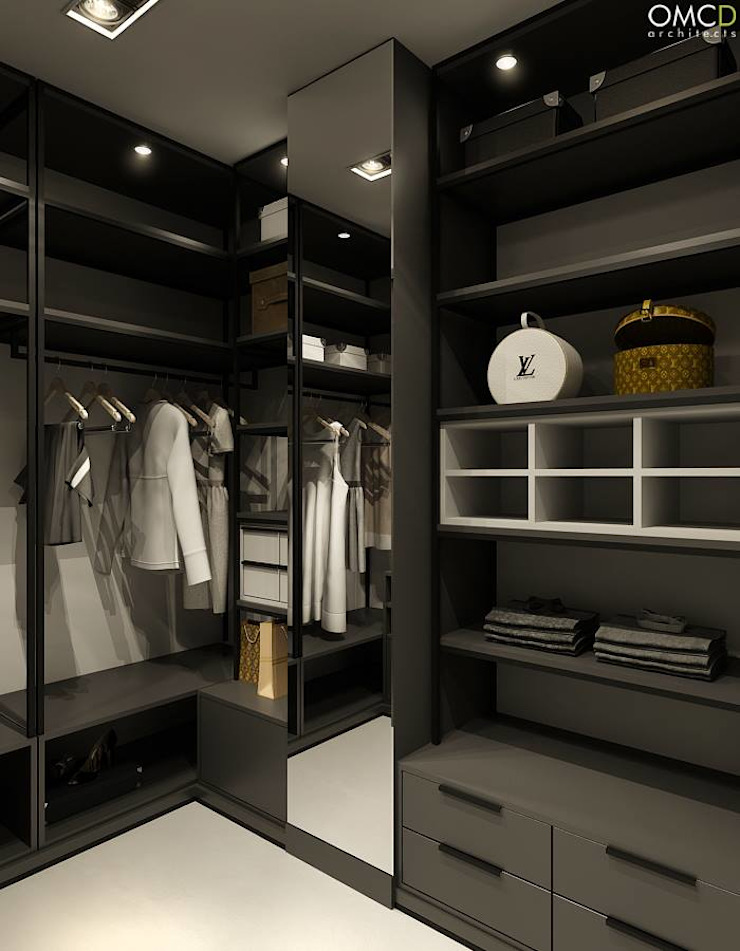 N.M. House Minimalistyczna garderoba od OMCD Architects Minimalistyczny