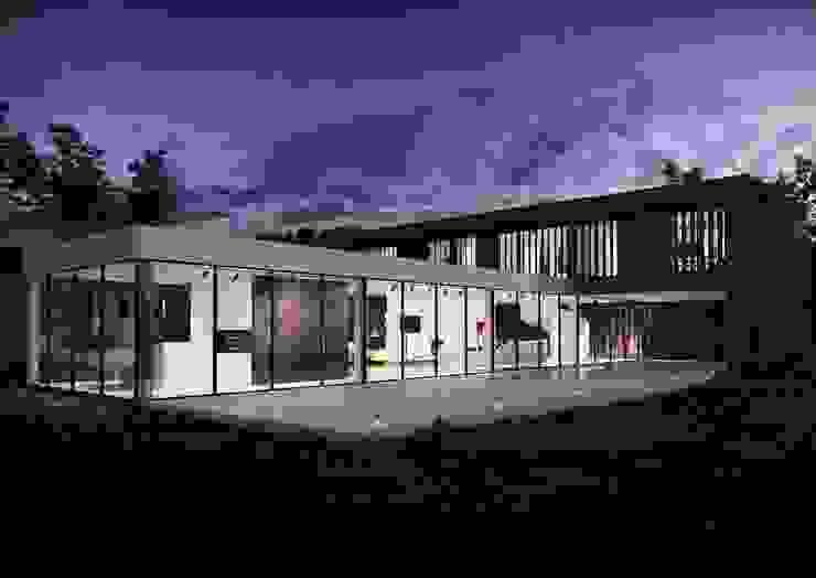 Green House Studio Minimalistyczne domy od OMCD Architects Minimalistyczny Drewno O efekcie drewna