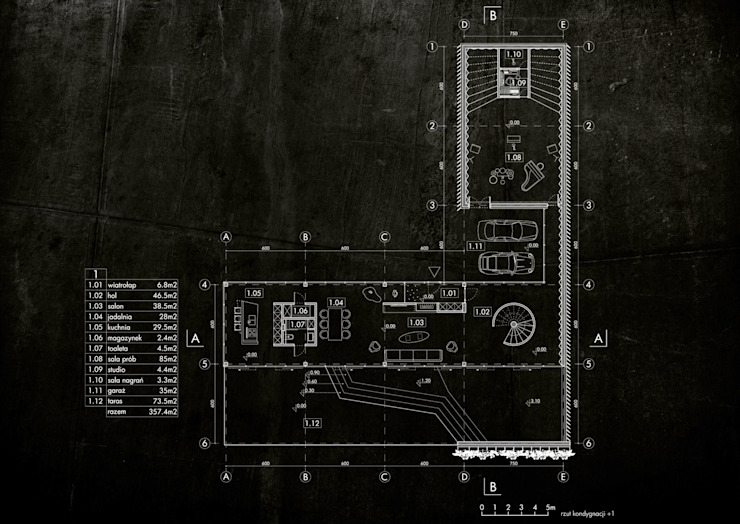 Green House Studio Minimalistyczne domy od OMCD Architects Minimalistyczny