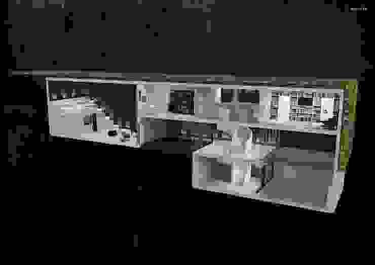 Green House Studio Minimalistyczne domy od OMCD Architects Minimalistyczny Beton