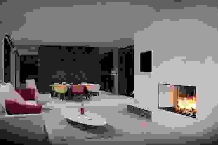 Green House Studio Minimalistyczny salon od OMCD Architects Minimalistyczny Beton