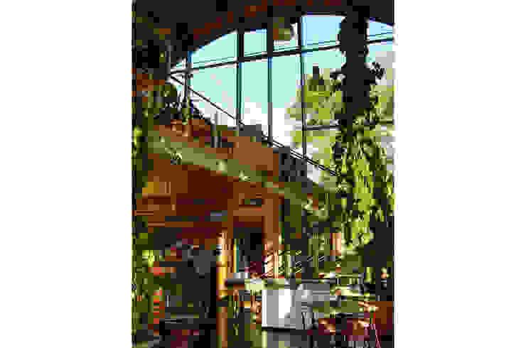 Restaurant à Chevetogne Jardin d'hiver moderne par DELTA Architects Belgique Moderne