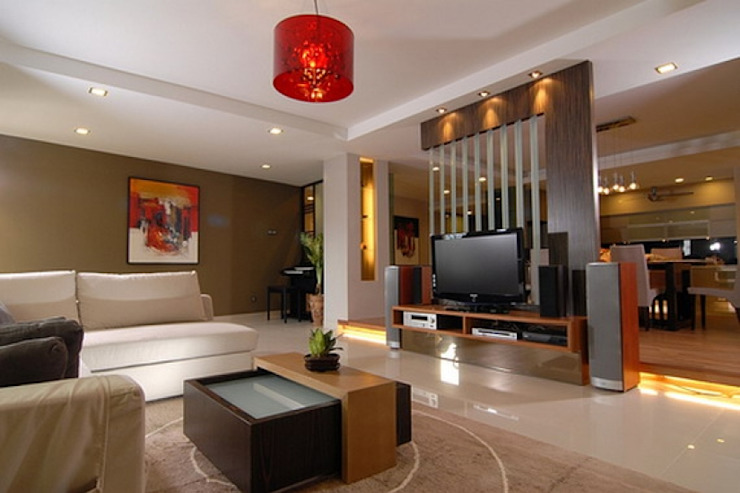 Living Area Splendid Interior & Designers Pvt.Ltd Modern living room