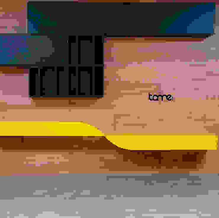 Biblioteca a la medida de Tame Mobiliario Moderno Madera Acabado en madera