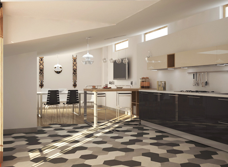 Kitchen by Teresa Lamberti Architetto, Modern Wood Wood effect