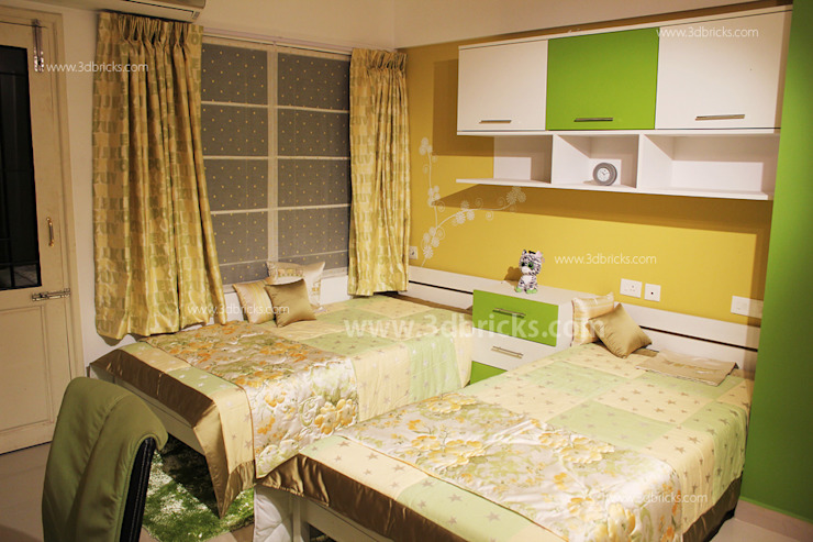 Interiors Modern style bedroom by 3DBricks Modern
